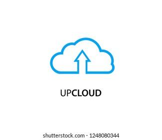 Up Cloud logo template design vector