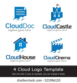 Cloud Logo Template Design Vector