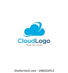 Cloud logo template vector illustration