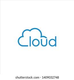 cloud logo template vector symbol