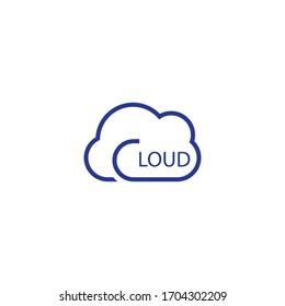 Cloud logo vector icon design
