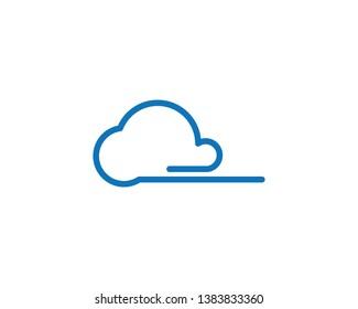 Cloud logo vector icon template