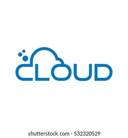 cloud logotype. logo vector