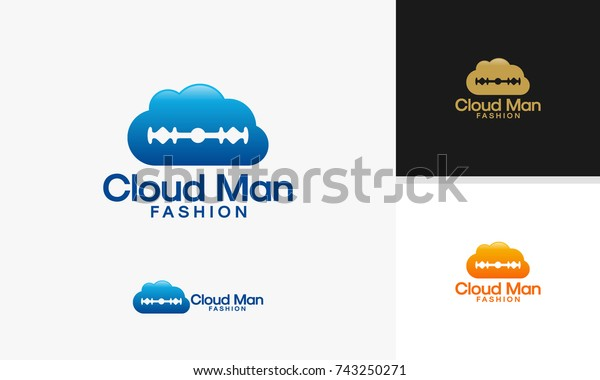 Cloud Man Fashion Logo Designs Online Stock Vector Royalty Free 743250271