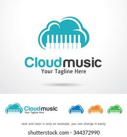 Cloud Music Logo Template Design Vector