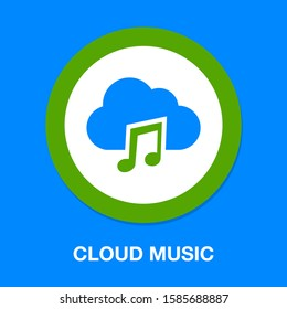 cloud music note illustration - sound icon