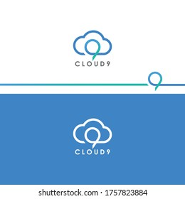 Cloud nine concept logo design for company | Logo for technology, communication, web etc.