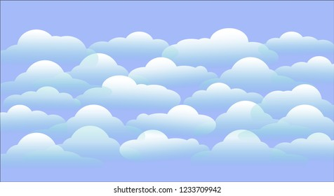Cloud on blue background illustrations and vector