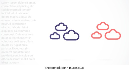 Cloud online vector cloud icon for viewing vector icon weather cloud linear vector icon