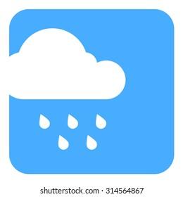 cloud and rain flat vector icon