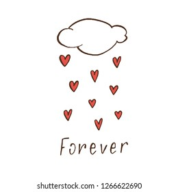 cloud, rain of hearts, forever-signature