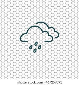 Cloud & rain icon