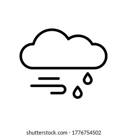 Cloud, rain, wind icon. Simple line, outline vector elements of forecast icons for ui and ux, website or mobile application