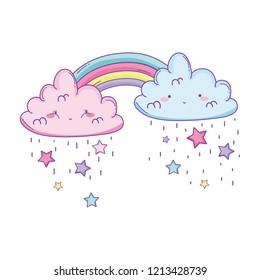 Cloud and rainbow cute cartoon