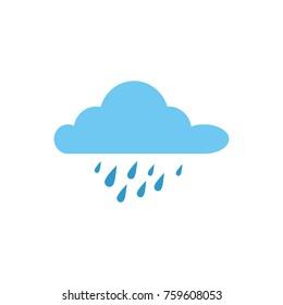 cloud rainy sky isolated icon