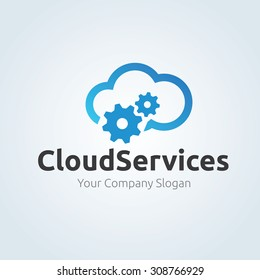 Cloud Security Logo Template