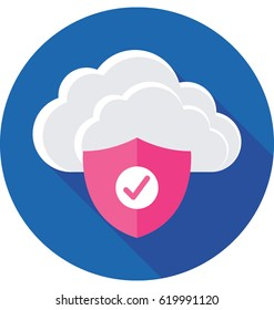 Cloud Security Vector Icon
