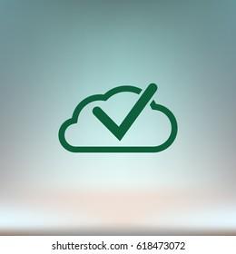 Cloud select icon. Cloud click symbol. Vector illustration.