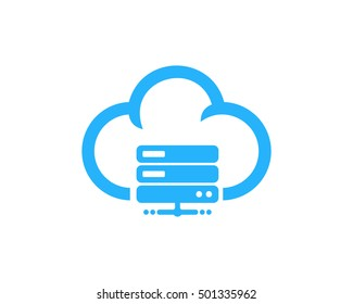 Cloud Server Computer Logo Design Template