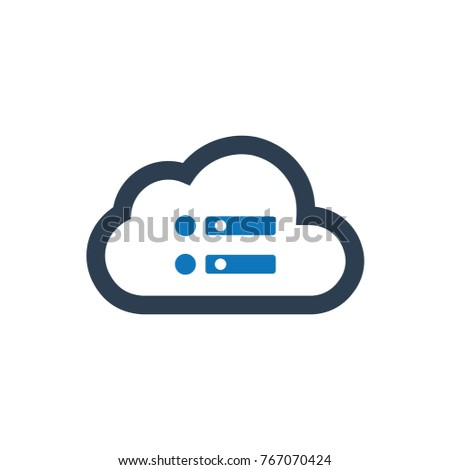 Cloud Server Icon Stock Vector (Royalty Free) 767070424