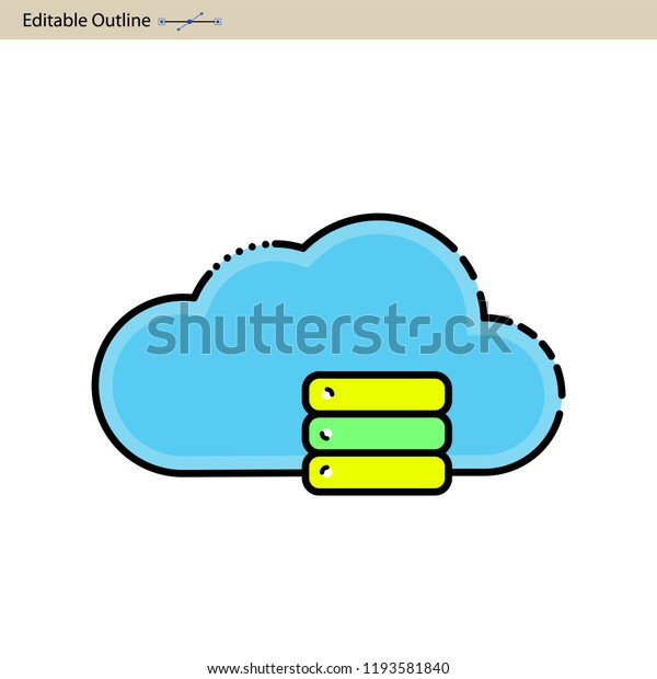 Cloud Server Icon Cloud Sync Secure Stock Vector (Royalty Free