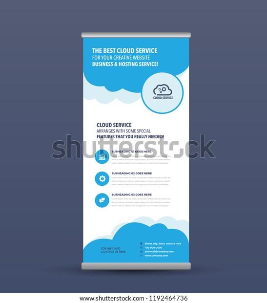 Cloud Service Hosting Business Internet Digital Stock Vector