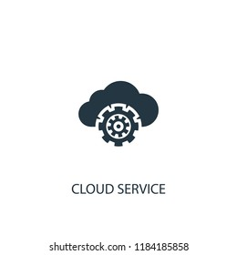 Cloud service icon. Simple element illustration. Cloud service concept symbol design. Can be used for web and mobile.