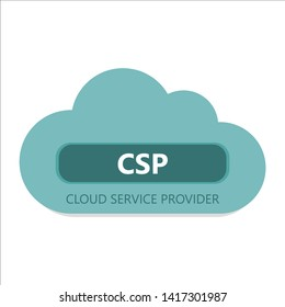 Cloud service provider. Conceptual icon.