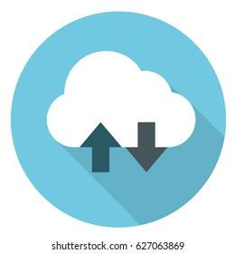 cloud services flat icon