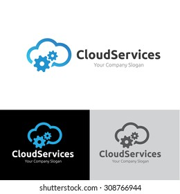 Cloud Services Logo Template
