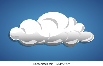 Cloud shaded and isolated - simple element vector illustration