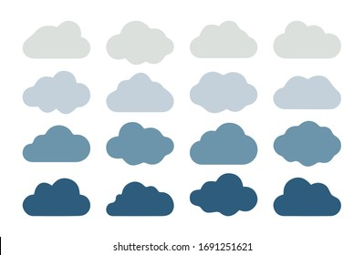 Cloud shapes design.Vector set multicolor clouds.Vector illustration