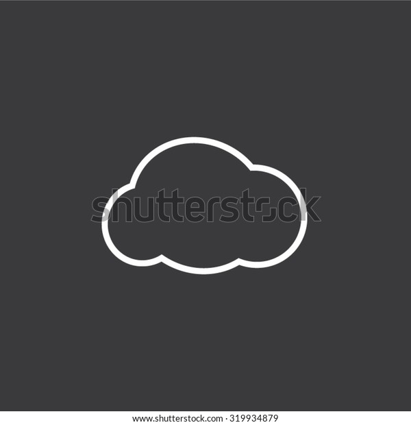 Cloud sign flat icon