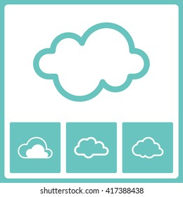 Cloud sign. Web vector graphic. Design collection.
