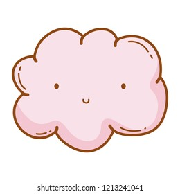 Cloud smiling cartoon