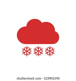 cloud snowflake vector icon