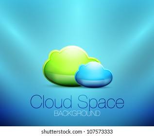 Cloud space concept background