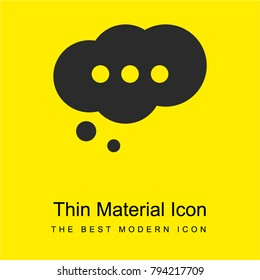Cloud speech bubble with ellipsis bright yellow material minimal icon or logo design