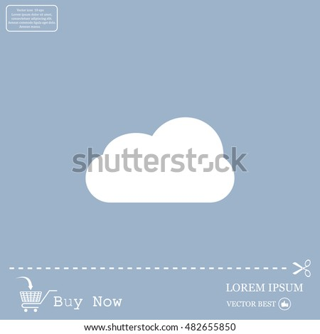 Cloud Cloud Storage Icon Stock Vector (Royalty Free