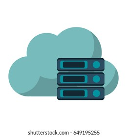 cloud storage related icon image