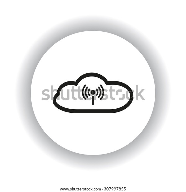 Cloud storage surrounded wi-fi network . icon. vector design
