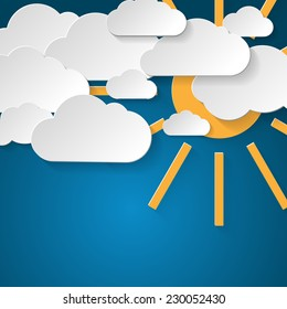 Cloud and sun background.