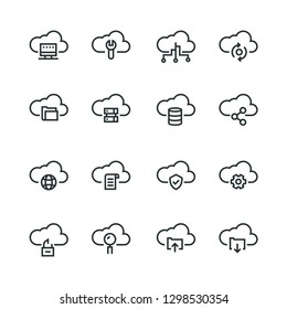 Cloud Technology Icon Set