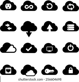 Cloud technology icons