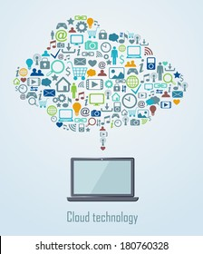 Cloud technology illustration eps 8