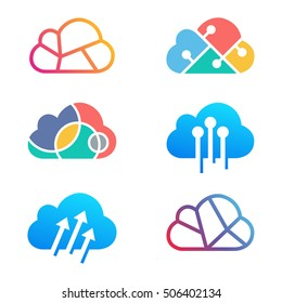 Cloud Technology logo design template. vector illustration