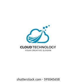 Cloud  technology Logo vector illustration