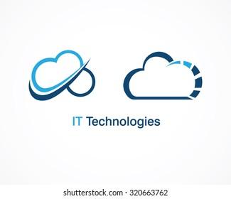 cloud technology vector template design