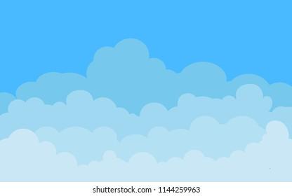 Cloud template vector illustration design, Blue sky background