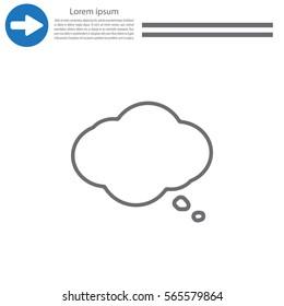 Cloud thinking icon